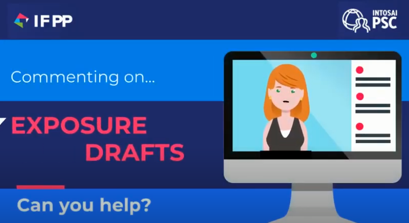 Cartoon woman on screen, text saying Commenting on Exposure drafts, Can you Help?